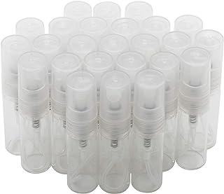 JIUWU 50 Pack 3ml 0.1 Oz Mini Portable Mist Spray Atomizer Bottle Refillable Glass Empty Pump Perfume Vials Clear Sprayer ...