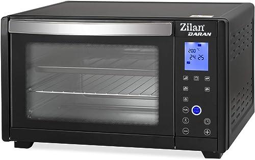 Zilan Daran Mini Four Digital,1600W, Tactile Écran LED avec fond de couleur bleue; Grill 900 W, Capacité 28 L, Platea...