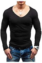 Comaba Mens Long Sleeve Casual Leisure Zip Up Patched Plus Size Tshirt