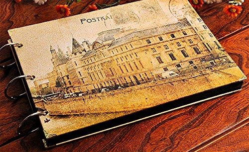Kisoy Scrapbook Retro Klassik und Nostalgie Stil DIY Foto Alben loseblattwerken Notizbücher für Ideal Geschenke Vintage Castle