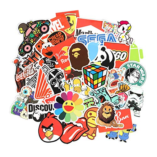 6 Series Cool Laptop Stickers Pack 100 pcs Stickers Variety Vinyl Car Sticker Motorcycle Bicycle Luggage Decal Graffiti Computer Skateboard Stickers for Laptop Stickers for Kid and Adult (A)