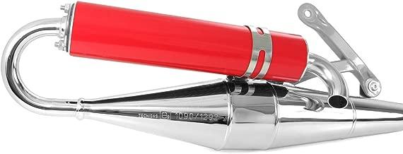 tecni Gas Next de R cromo/rojo, Tuning–Escape Piaggio Liberty 50, Diesis, Fly, Free, Ntt, Quartz, S50, Storm (50ccm/2takt)