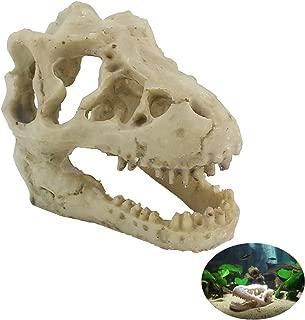 TinaWood Small Resin Emulational Dinosaur Skull Fish Tank Ornament Aquarium Terrarium Decor
