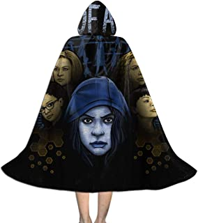 One of A Kind Orphan Black Unisex Kids Hooded Cloak Cape Halloween Xmas Party Decoration Role Cosplay Costumes