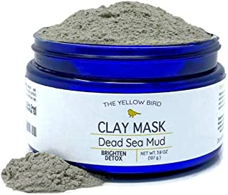Dead Sea Mud Mask Powder with Bentonite Clay. All Natural Pore Cleansing Face Mask for Acne, Blackheads, and Blemishes. De...