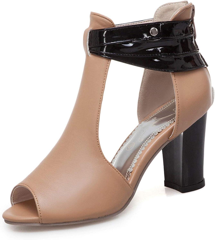 bluee-shore Women Sandals Plush Size 34-50 Women Sexy Fish Mouth shoes Fashion Square Heel Sandals