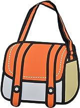 ANKKO Special 3D Style Drawing Cartoon Messenger Bag Women Crossbody Bag(Orange)