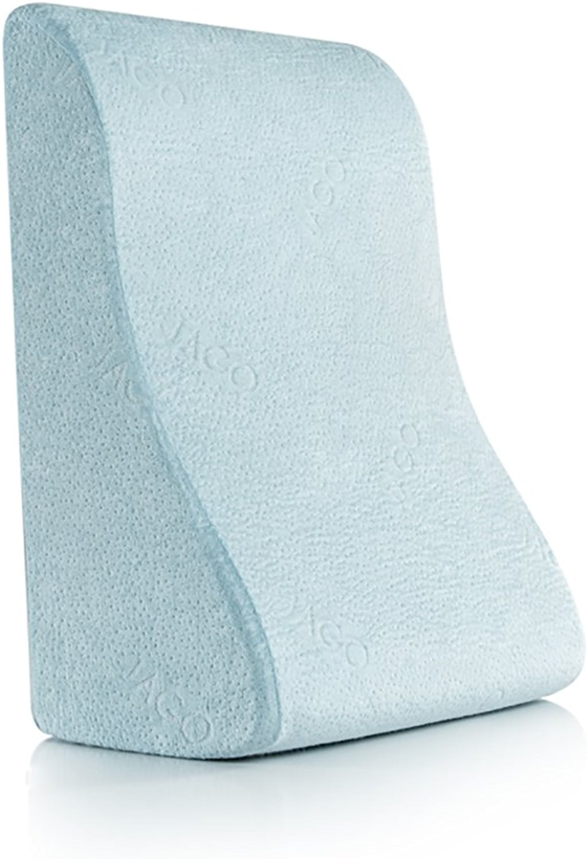 GUOWEI Coussin de Chevet Coussin Dossier Taille Colonne Vertébrale Vertèbre Lombaire Soucravaten Coton Chevet Doux Triangle, 2 Modèles Bureau Lumbar Pad Coussin