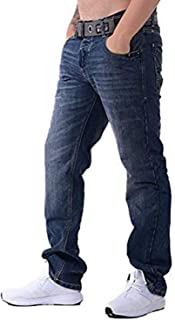 Crosshatch Mens New Wak Designer Mid Wash Jeans