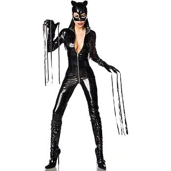Stilikone Disfraz Catwoman con máscara y Guantes para Carnaval ...