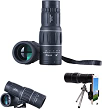 Monocular Telescope for Kids Adults, with Smartphone Adapter Compact Tripod, 16x52 High Power HD FMC BAK4 Prism for Bird Watching Hunting Camping Travelling Wildlife Hiking Match