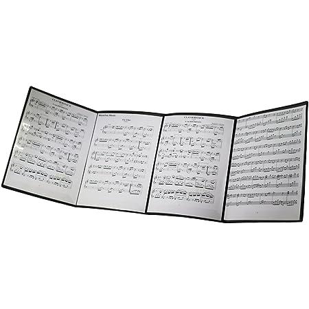 Moreyes Classeur pour partitions de musique Se déplie pour la lecture de la musique Noir