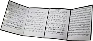 MOREYES Music Folder For Music Sheets Unfolding When Playing Instrument (black)
