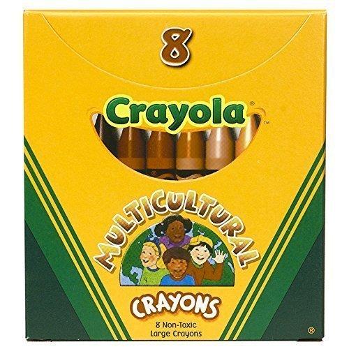 CRAYOLA LLC MULTICULTURAL CRAYONS LARGE 8PK (Set of 12)