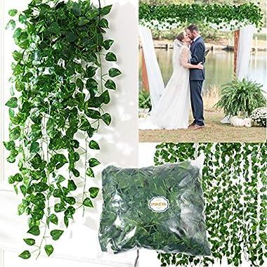 IMIKEYA 18pcs Artificial Ivy Garland Foliage Green Leaves Fake Ivy Vines Artificial Ivy Garland Greenery Decor Hanging Vine P