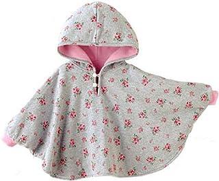 Baby Mädchen Weiß Rosa Kapuze Quasten Gestrickt Poncho Strickjacke Pullover 0-24