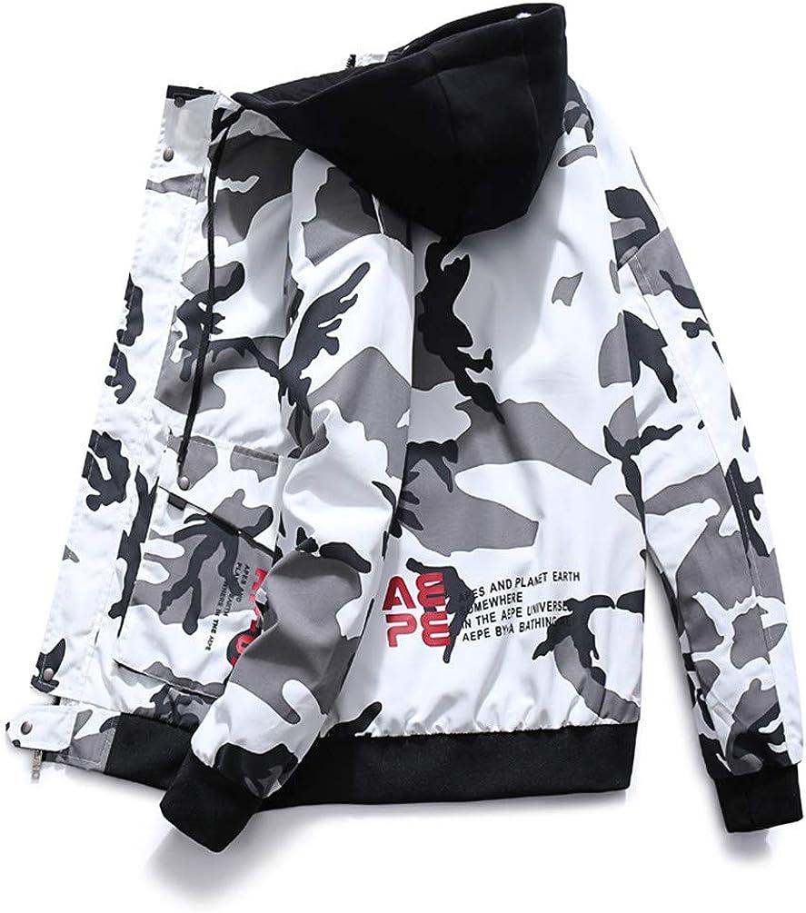 COTZFOZ Autumn Winter Men Camo Military Jacket Bomber Mens Camouflage Hip Hop Jackets and Coats