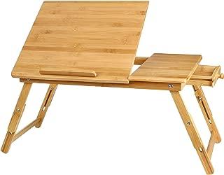 Homfa Mesa Ordenador Portátil de Bambú Soporte para Laptop