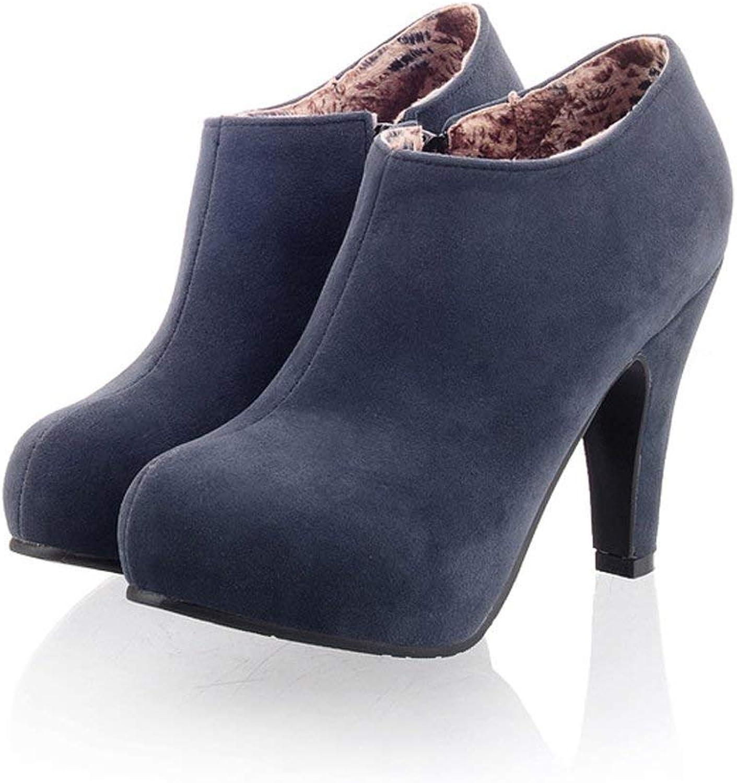 Edv0d2v266 Women's High Heel Ankle Bootie Fashion Zipper Faux Suede Multi color Boots