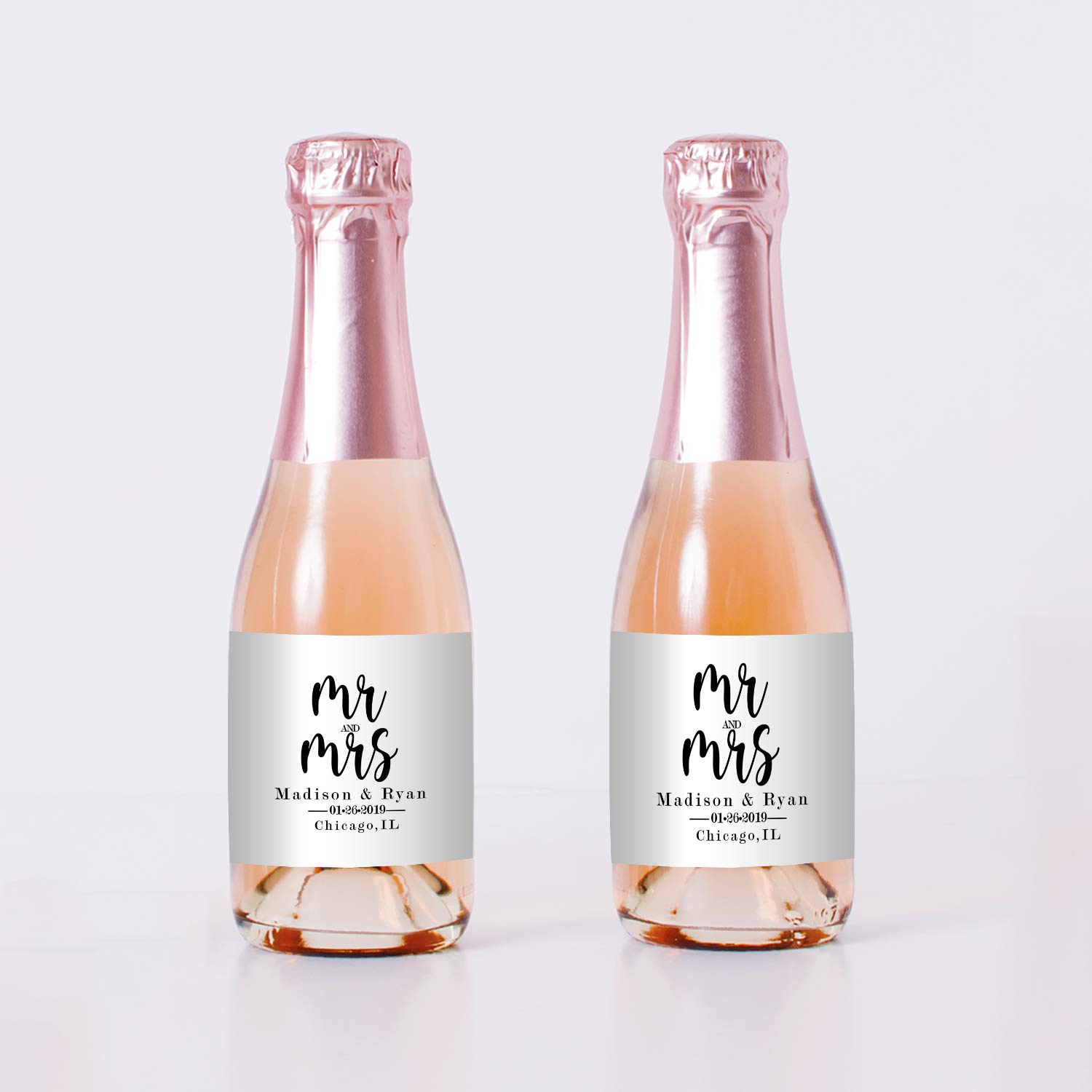 Mr and Mrs Wedding Mini Champagne Phoenix Mall - Bottle Same day shipping Party Labels Decorati