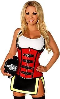 Daisy Corsets Women's Top Drawer Five Alarm Firegirl Costume