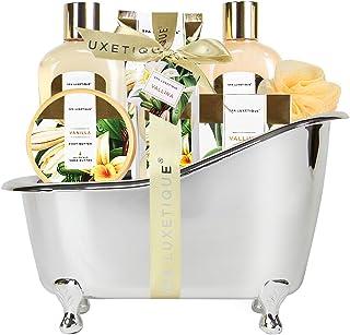 Spa Luxetique Coffret de Bain et de Soins, Coffret Cadeau pour Femme, 8 Pièces Parfum de Vanille, Cadeau d'Anniversaire et...