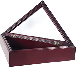 Online Stores Officers Flag and Display Case, 3 by 5-Feet, Cherry