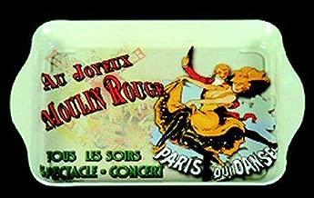 Trays French Vintage Metal 20x33cm AU Joyeux Moulin Rouge Paris