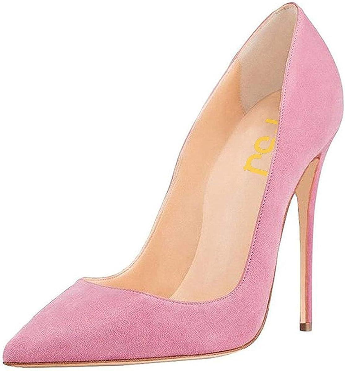 FSJ Women Sexy Financial sales Direct stock discount sale Suede Pointed Toe Pumps cm Stiletto Heels High 12