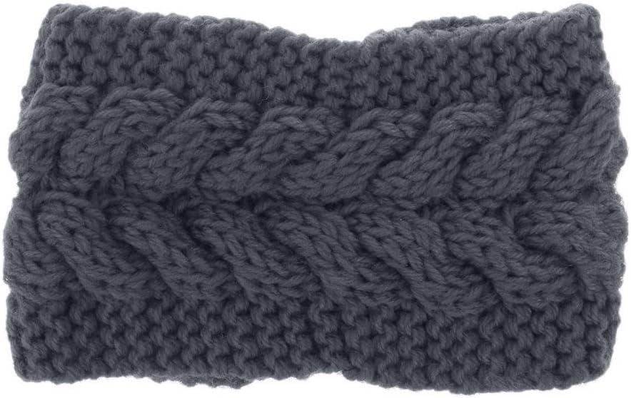 LEJIA 9 Colors Crochet Headband Knit Flower Hairband Winter Women Ear Warmer Headwrap