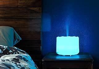 ZAQ Vase Aroma Essential Oil Diffuser LiteMist Ultrasonic Aromatherapy Humidifier, Color-Changing - 300 Milliliter