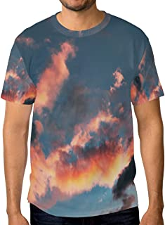 Lovexue Asaka Sky T Shirts for Men Top Tee Crew Neck Casual T-Shirt