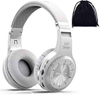 Bluedio Turbine H+ Plus Wireless Bluetooth 5.0 Stereo Headphones with Mic, Shocking Bass Headphones with Storage Bag for M...