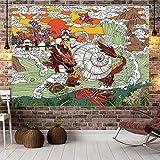 KDENDGGA Dragon King Octopus Tapestry Fantasy Style Colgante De Pared Decoración del Hogar para Dormitorio Y Sala De Estar 200 * 148 Cm