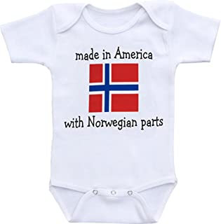Dazzle Labs Made In America With Norwegian Parts Funny Baby Onesie Bodysuit