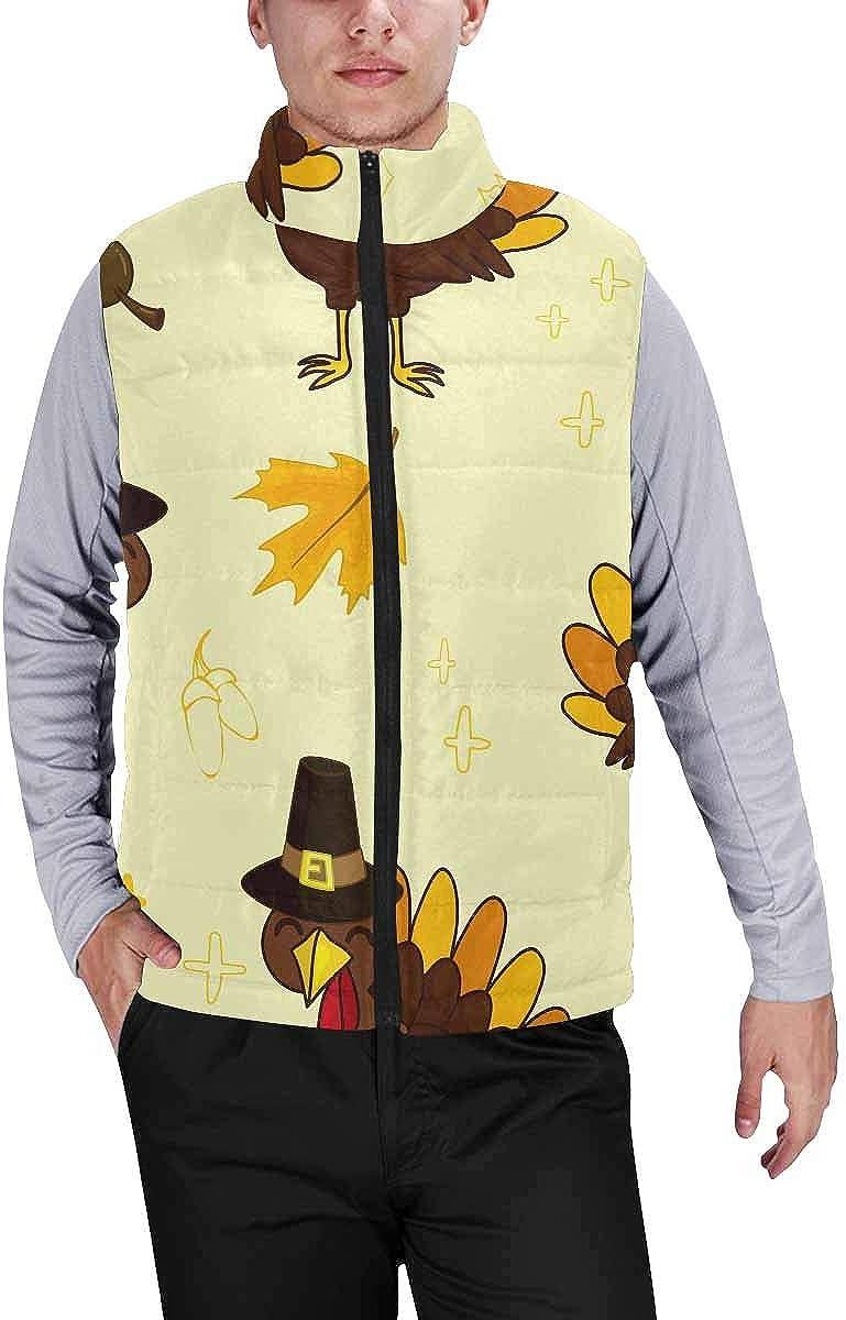 InterestPrint Men's Lightweight Sleeveless Jacket for Travel Hiking Running Colorful Hedgehogs