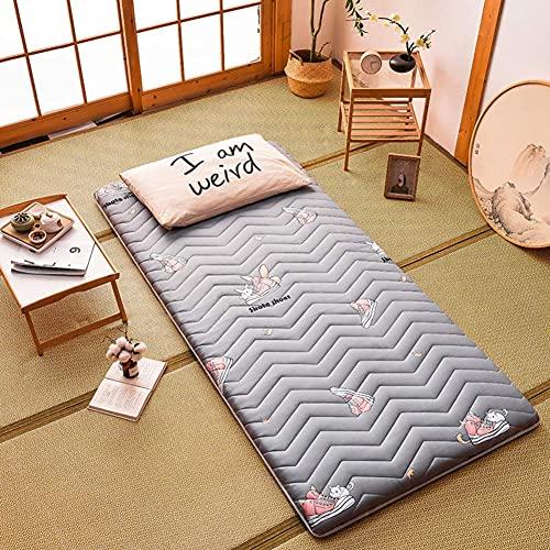 Colchón de Suelo Plegable Tatami, Dormitorio de Estudiantes, colchones Individuales para Adultos, cojín de futón japonés, colchón de futón Enrollable F 120x190cm (47x75)