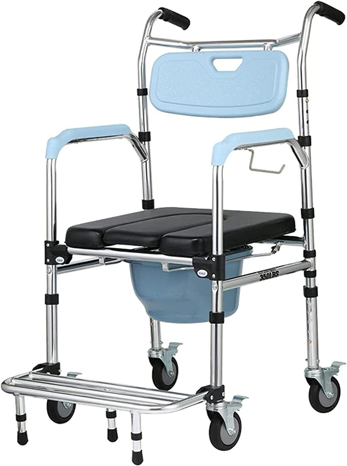 FC-LY 4 in 1 Multifunctional Aluminum Commode Wheeled Chair Arlington Mall Super sale period limited with