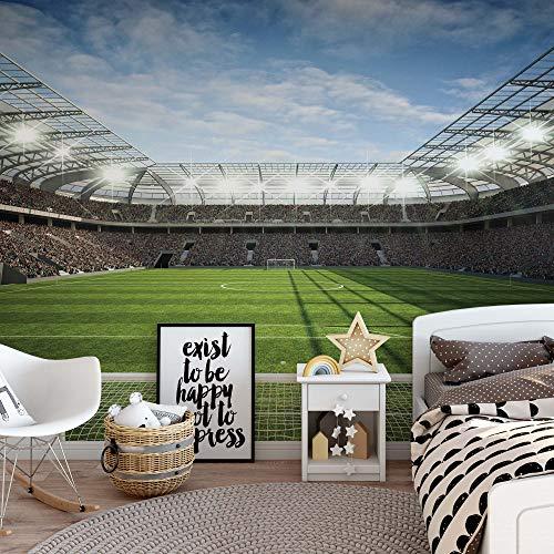Fußballstadion Vlies Fototapete Fotomural - Wandbild - Tapete - 208cm x 146cm / 2 Teilig - Gedrückt auf 130gsm Vlies - 11798VEXL - Fußball & Sport