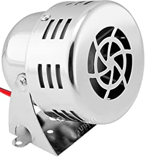 Vixen Horns Loud Electric Motor Driven Horn/Alarm/Siren (Air Raid) Small/Compact Chrome 12V VXS-9060C