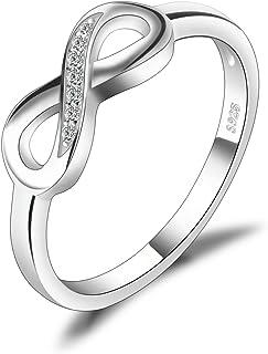 comprar comparacion JewelryPalace Anillo en forma Infinito con Circonita en plata de ley 925