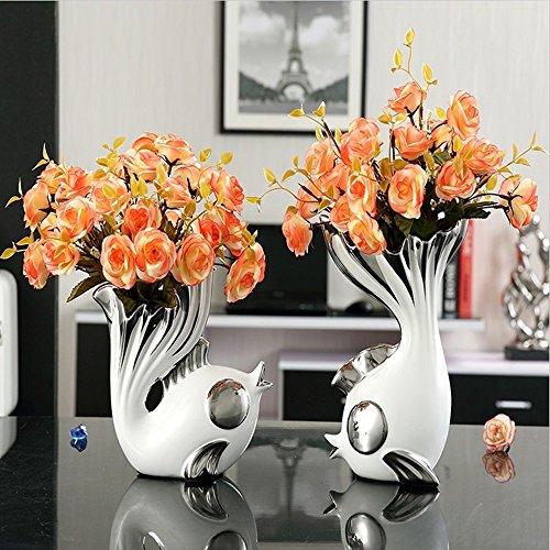 Europese stijl keramische vaas bruiloft geschenken creatieve woonkamer tv-kast tafel vis ornamenten moderne minimalistische decoraties woonkamer/slaapkamer/restaurant/kerst/festival