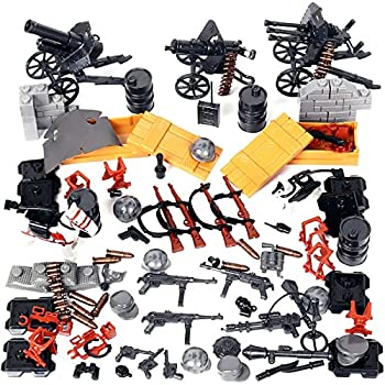 Kolobok WW2 Nazi Toys War Set - WWII German Army Men Blitzkrieg Soldiers Weapons Pack – Guns and Accessories for Minifigures - Building Blocks Military Toys 90 pcs Compatible with Major Brands