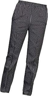Pantalones de Cocina/Uniforme de Cocinero para Hombre Mujer de Algodón Hotel Duradero Confortable