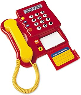 Learning Resources LER2665 Pretend & Play Teaching Telephone,3 L x 2 H in,Multi