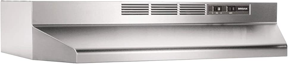 Broan 413004 Stainless Steel Ductless Range Hood Insert with Light, Exhaust Fan, Under Cabinet, 30-Inches