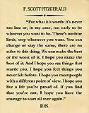 F Scott Fitzgerald Zitat Great Gatsby Poster Great Gatsby