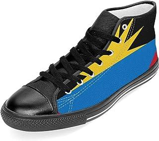 TARDIGA Antigua y Barbuda Flag - Zapatillas de Lona clásicas Unisex con Suela de Goma y Cordones
