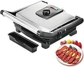 Parrilla eléctrica Pan, multi-función Grill Pan, Apto para Sandwich Grill Steak, etc, de plata