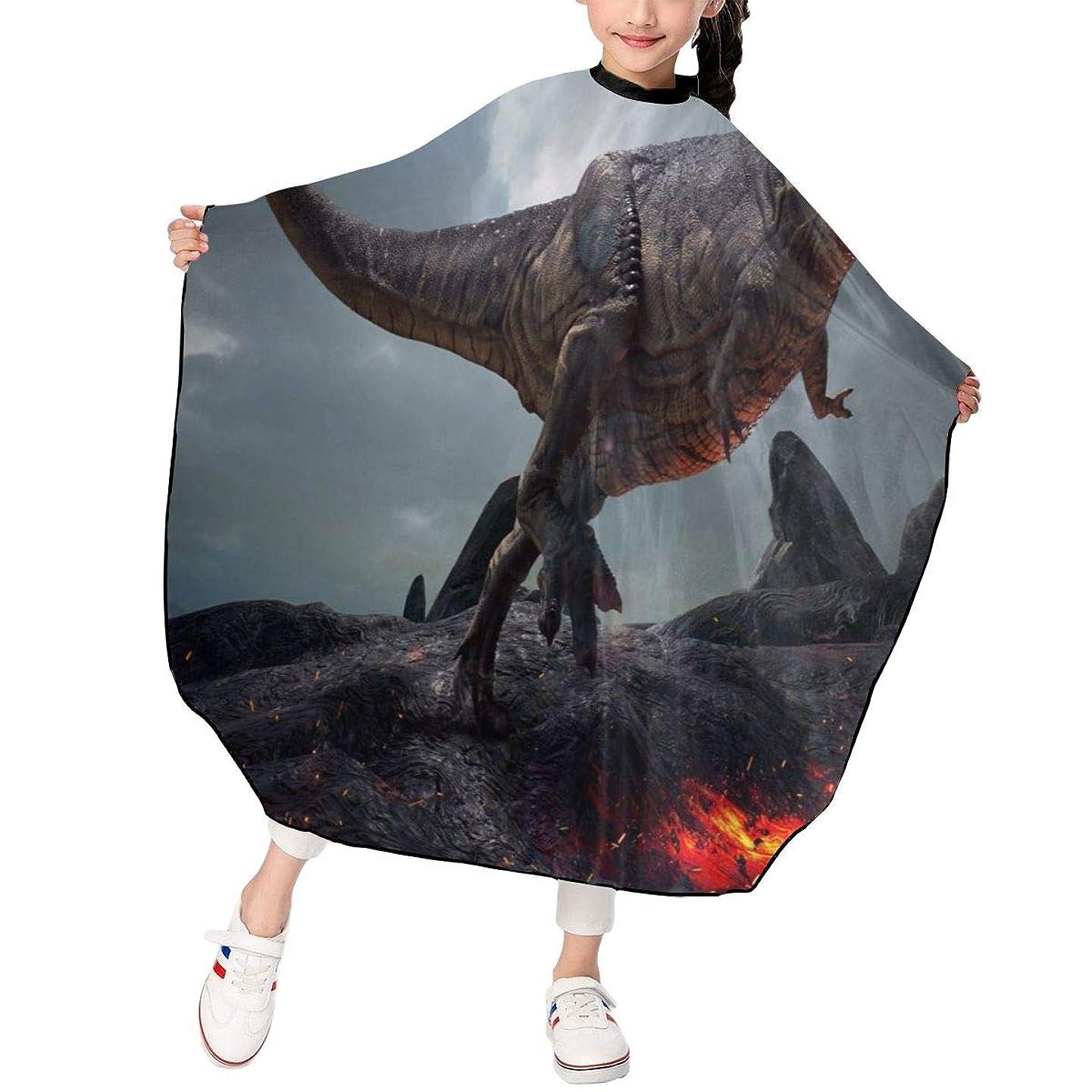 アイスクリーム地殻コンデンサー最新の人気ヘアカットエプロン 子供用ヘアカットエプロン120×100cm 恐竜 柔らかく、軽量で、繊細なポリエステル生地、肌にやさしい、ドライ